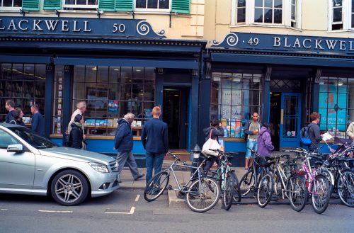 Blackwell in Oxford. The most addictive book store.